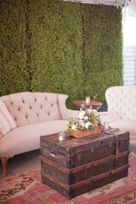 Lounge inspiration from this  Intimate Weddings Post