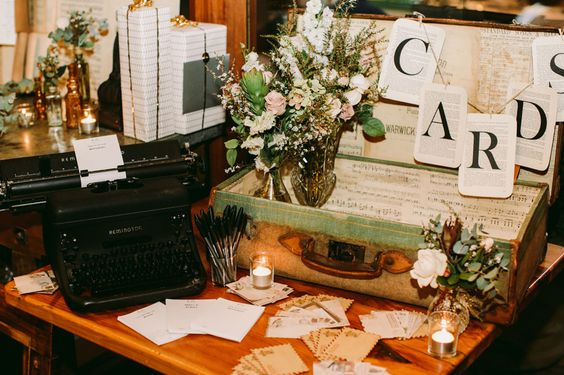 Wedding cared table featured on Green Wedding Shoes