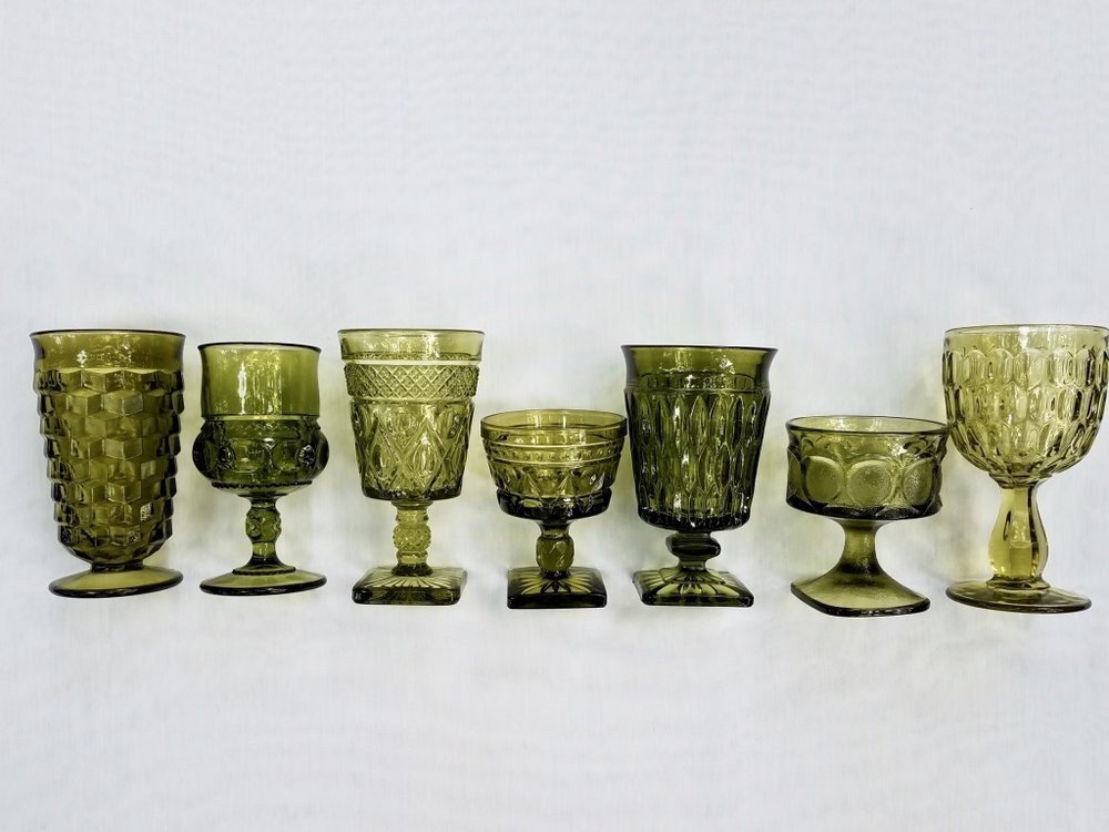 Green Goblets from The Copper Quail