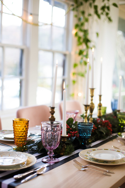 Colorful Christmas Table Decor