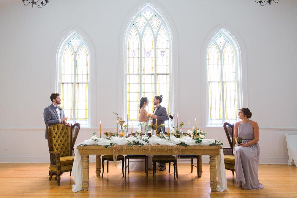 Wedding Head Table Decor Inspiration at The Trinity Chapel