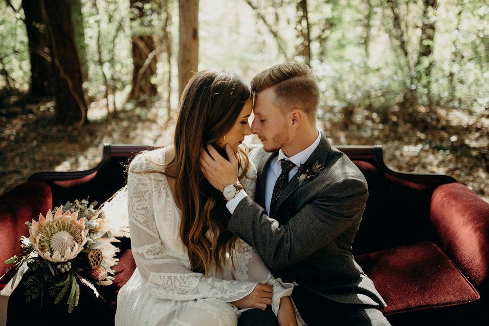 Lauren & Caleb's Boho Wedding at Hiwassee River Weddings