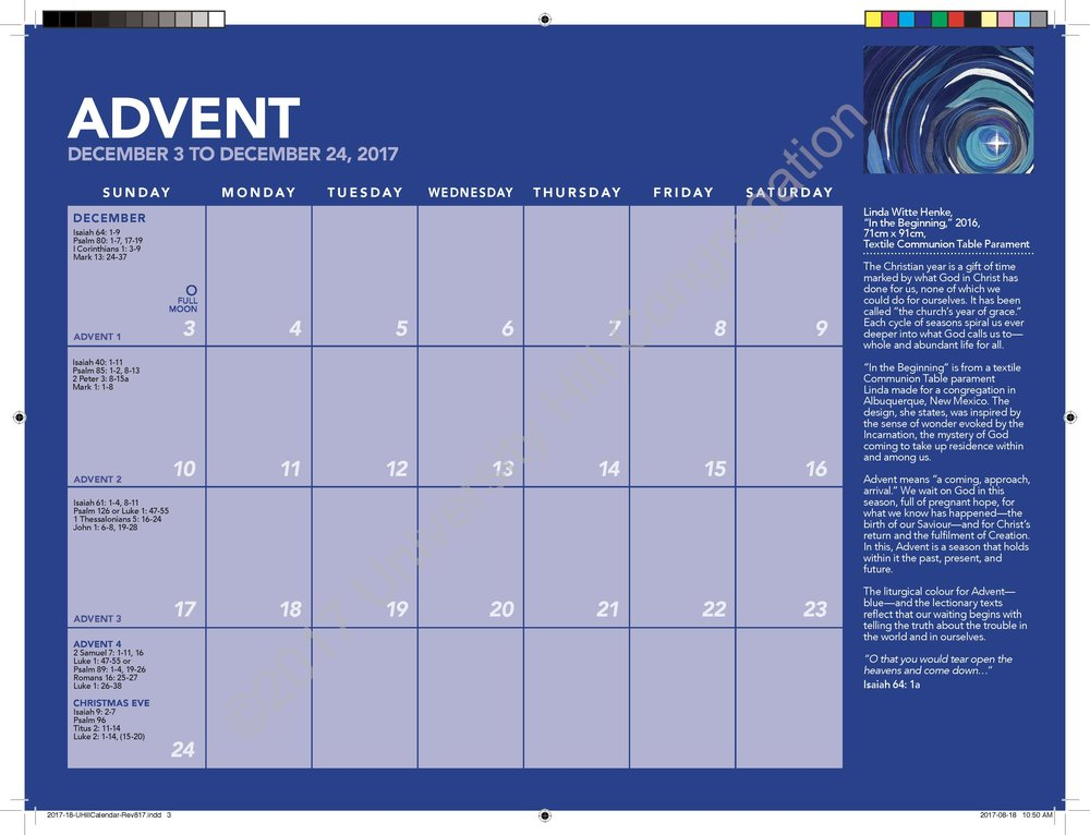 Advent Calendar Page