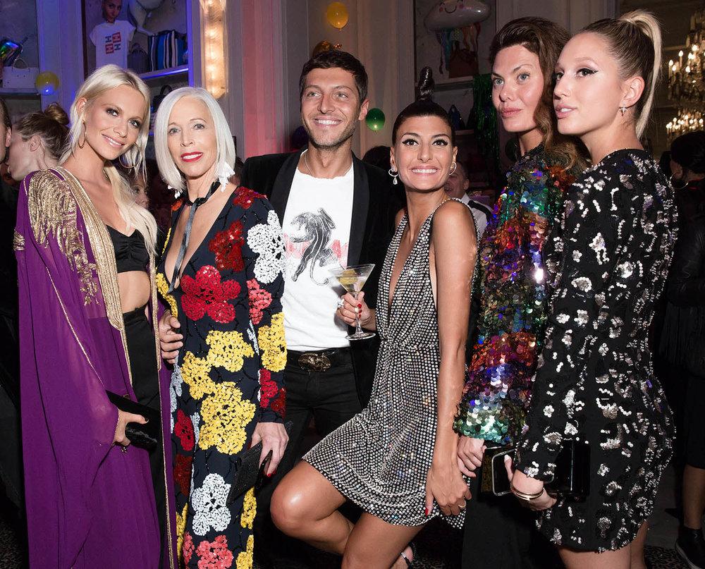 Poppy Delevingne, Linda Fargo, Ev Bousis, Giovanna Engelbert, Sara Battaglia, Olympia of Greece