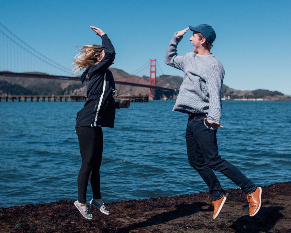 Just a lil high-five action in front of the Golden Gate Bridge