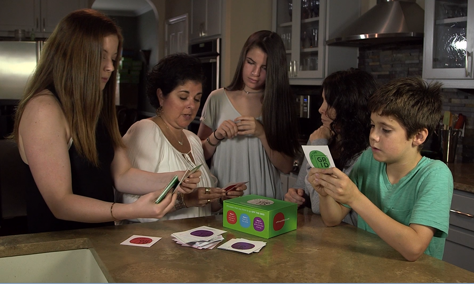 Take out the Off The Grid playing   cards and start a conversation about social media, online safety and phone etiquette.