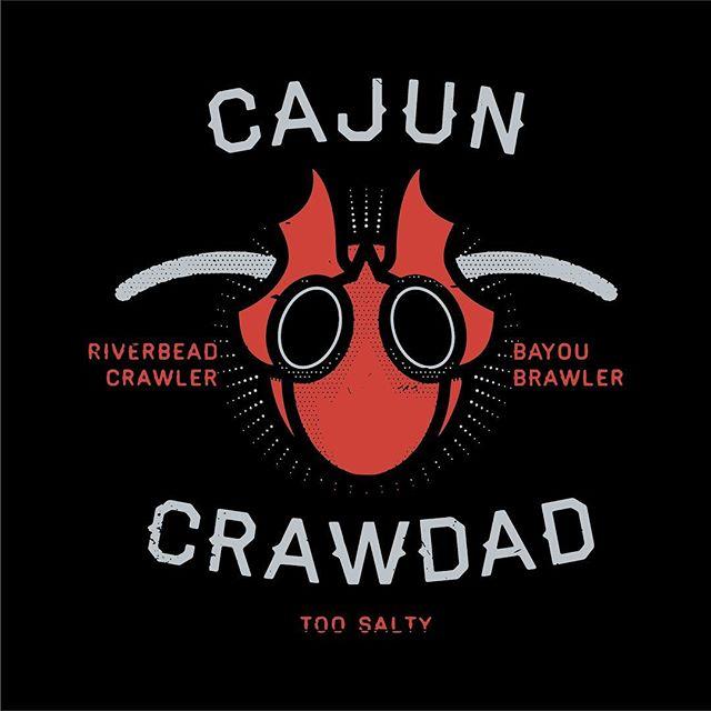 Unused graphic for the King of Salt Style, Cajun Crawdad. #indyhall_arts #illustration #wrestling #chikara