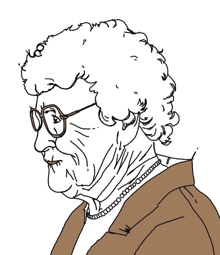 Portrait illustration, Pen & ink, digital illustration