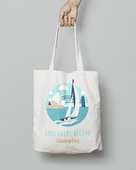 Vector illustration tote bag design