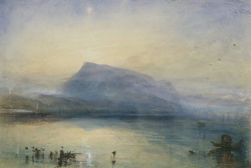 The Blue Rigi, Sunrise  , 1842, J. M. W. Turner