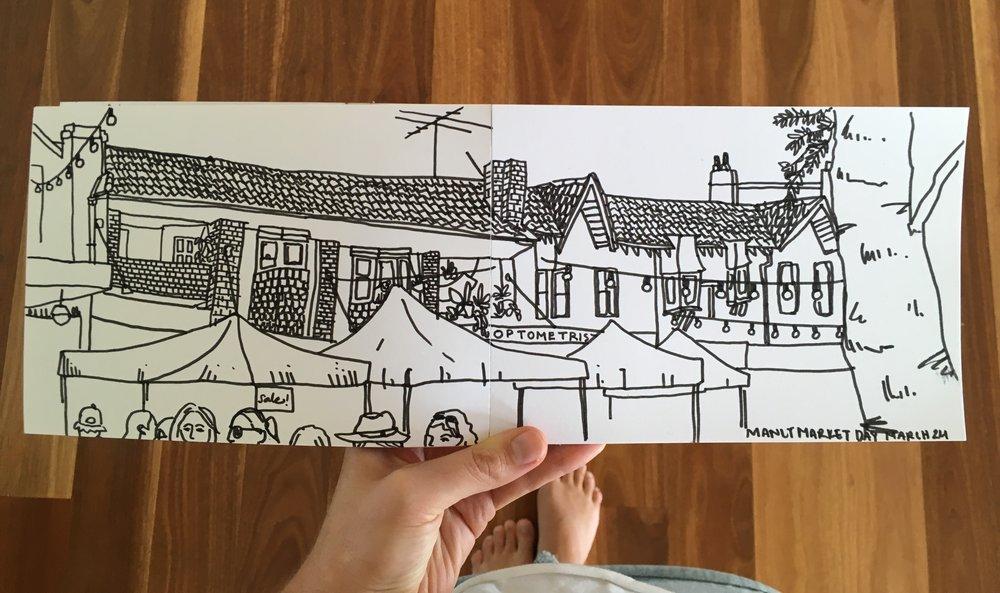 Line drawing, Sarah Campbell Illustration