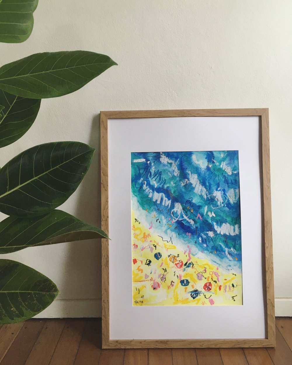 Abstract Beach, Sarah Campbell illustration