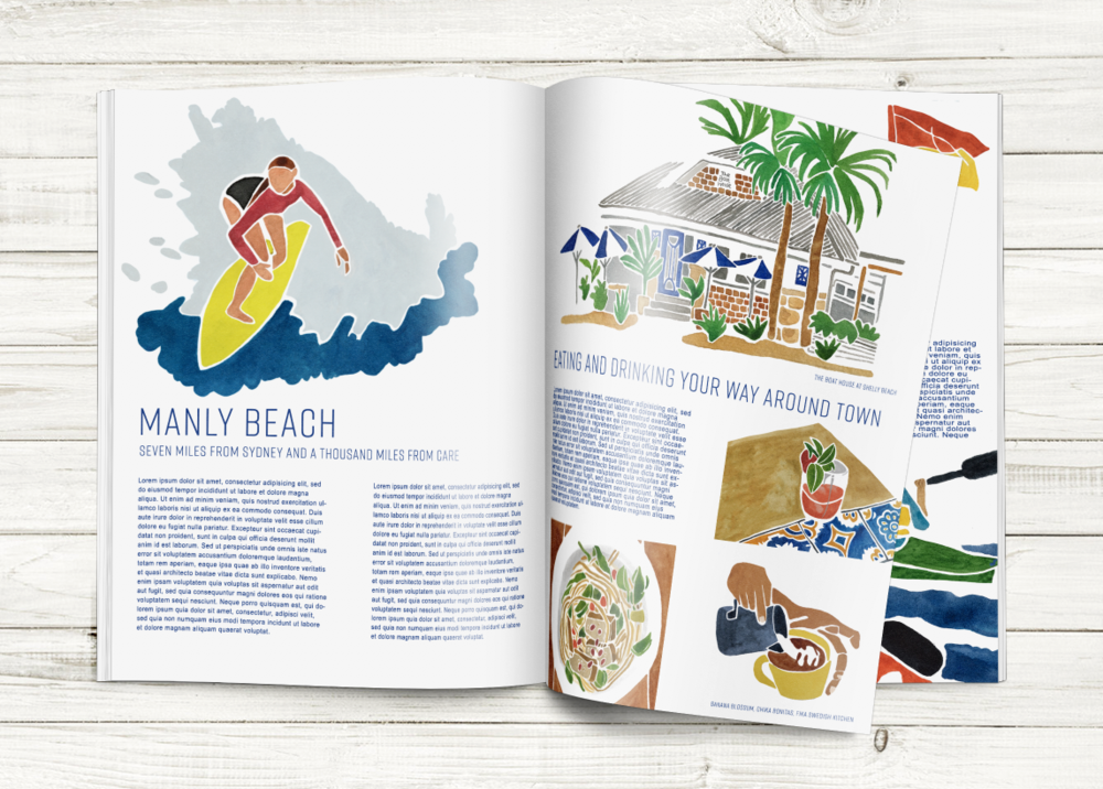 Personal project, illustrations and magazine layout