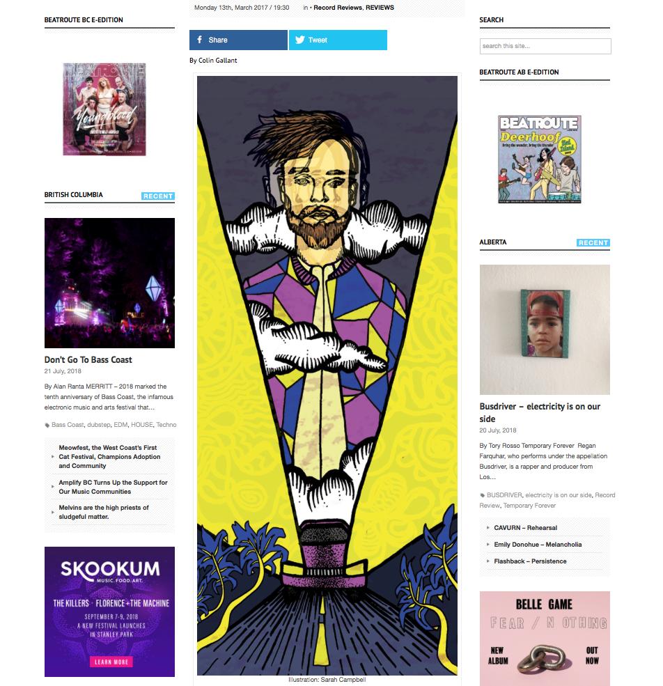 Beatroute Magazine, online