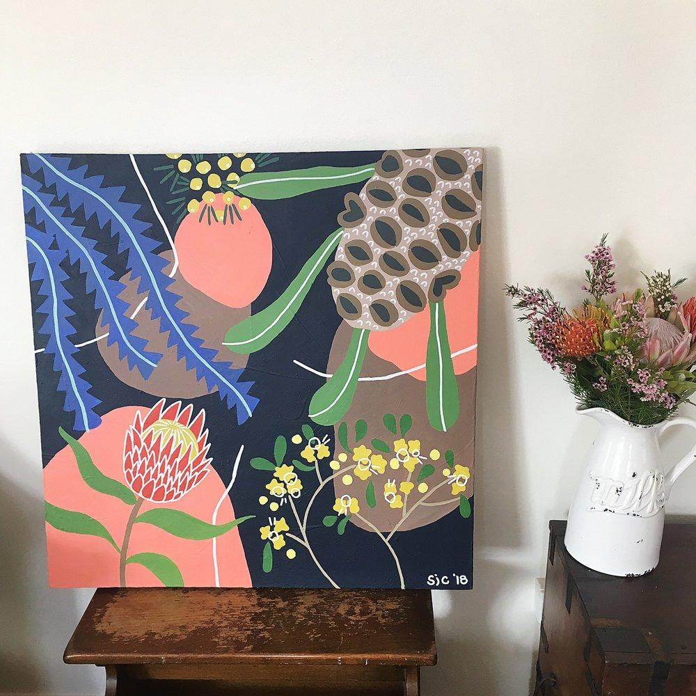 Australian native flower painting.JPG