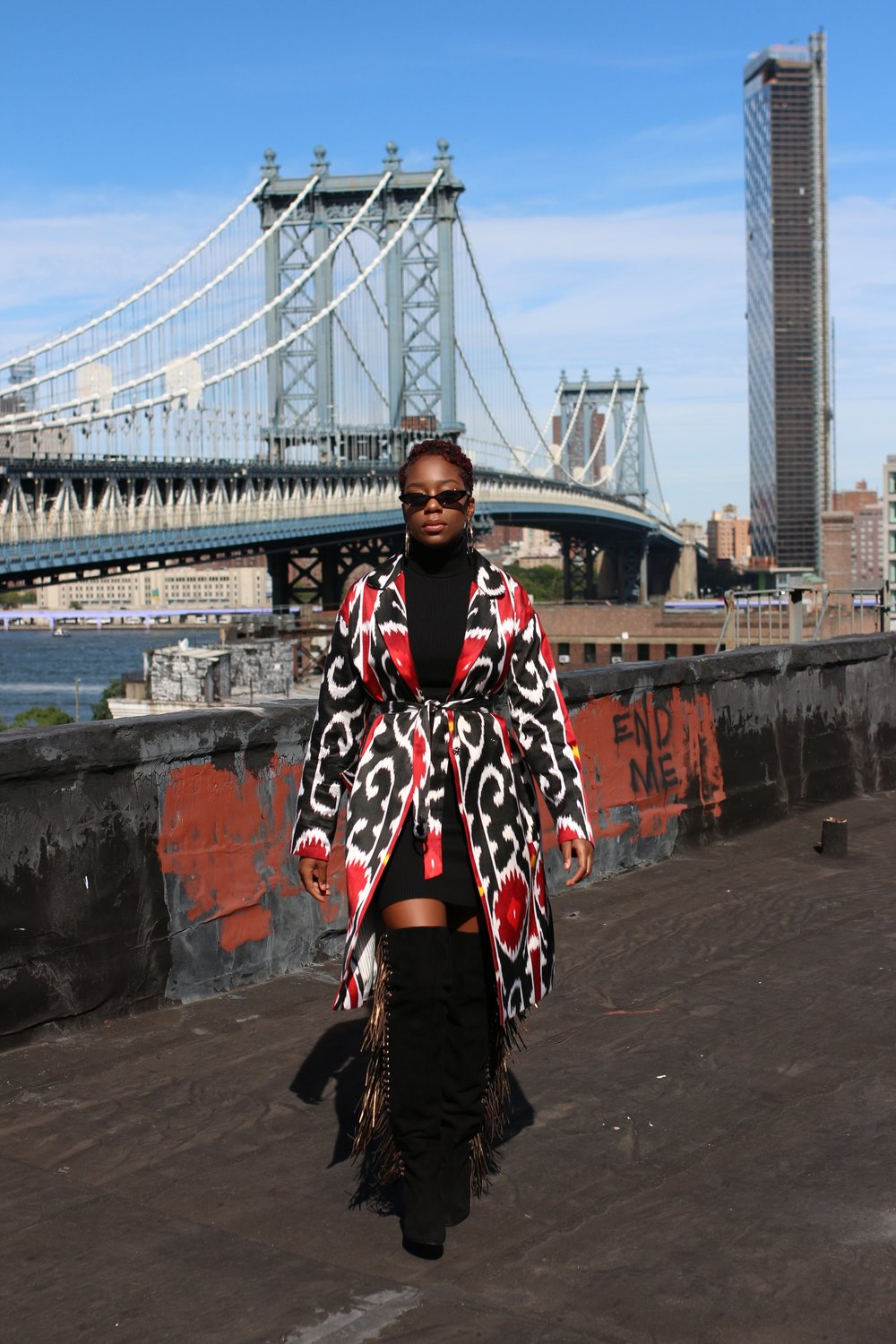 Coat by Moel Bosh provided by Dreams On Air NYC