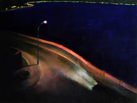 On the Way to La Herradura  Nigel Van Wieck Oil on Panel 9 x 12 inches
