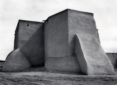 Ansel Adams's  Saint Francis Church, Ranchos de Taos, New Mexico  (1929)