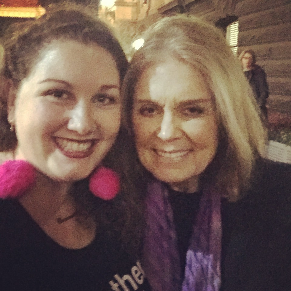 Our (Wo)Manager Carmen, with the icon herself, Ms Gloria Steinem