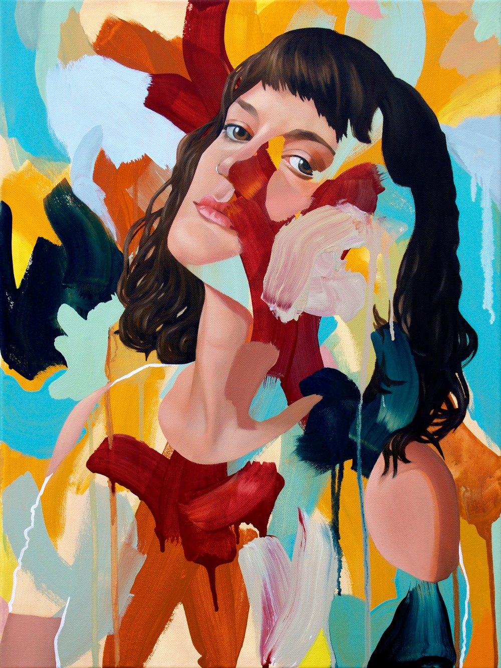 Kim Leutwyler     Briony Mackenzie,  2016  Oil on canvas  61 x 46 cm  Reserve Price: Coming Soon