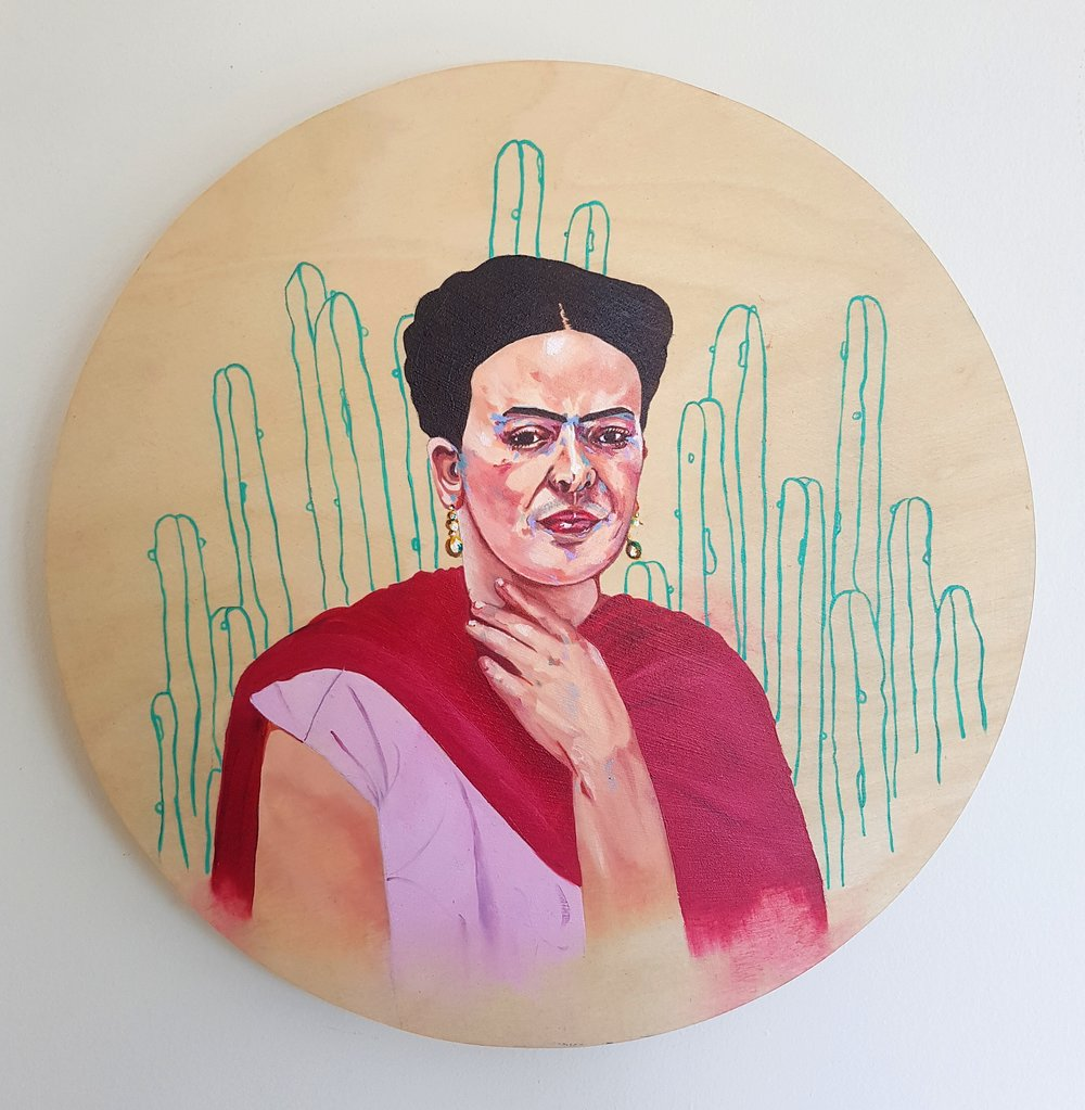 Montana Kitching Frida Kahlo, 2016 Oil on board 20 x 20 cm