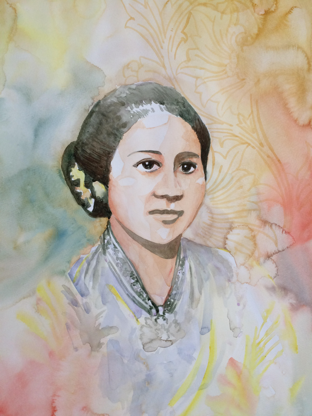 Tri Setyani Remembering Kartini, 2016 Watercolour on paper 40 cm x 30 cm