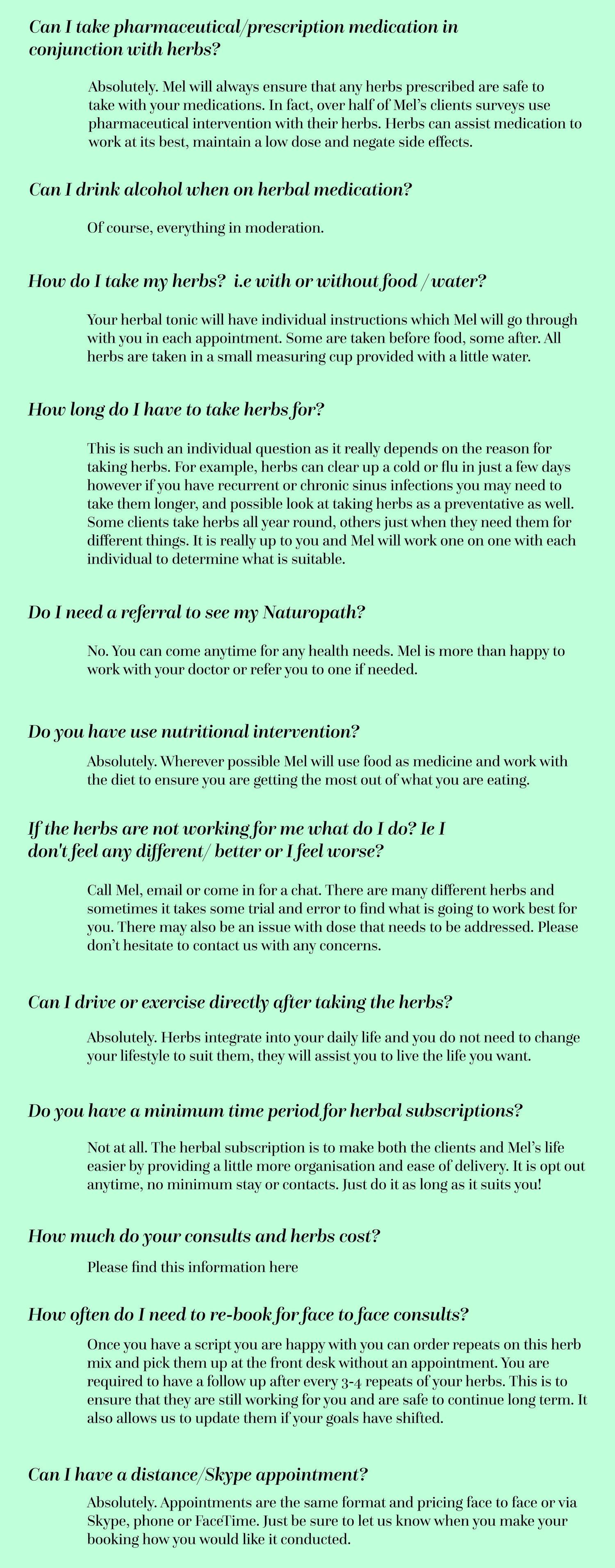 MG Herbs - FAQ