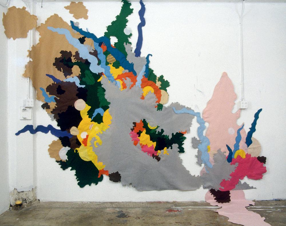 "Untitled, 2005, hand sewn felt, 120""x76"""