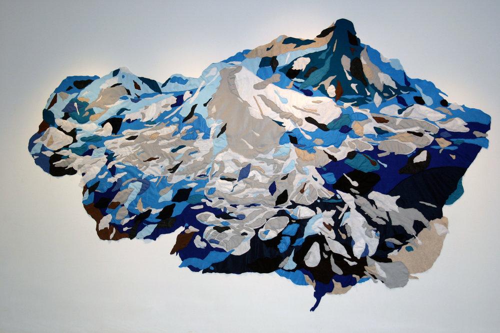 """Caldera, 2008, hand sewn felt, 216""""x144"""""""