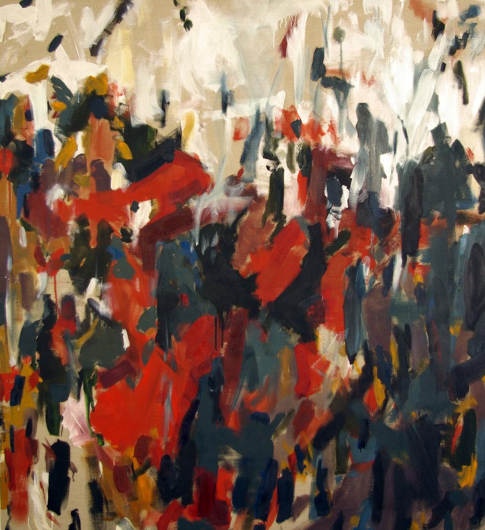 """Dead Shunt, oil on linen, 64'x70"""""""
