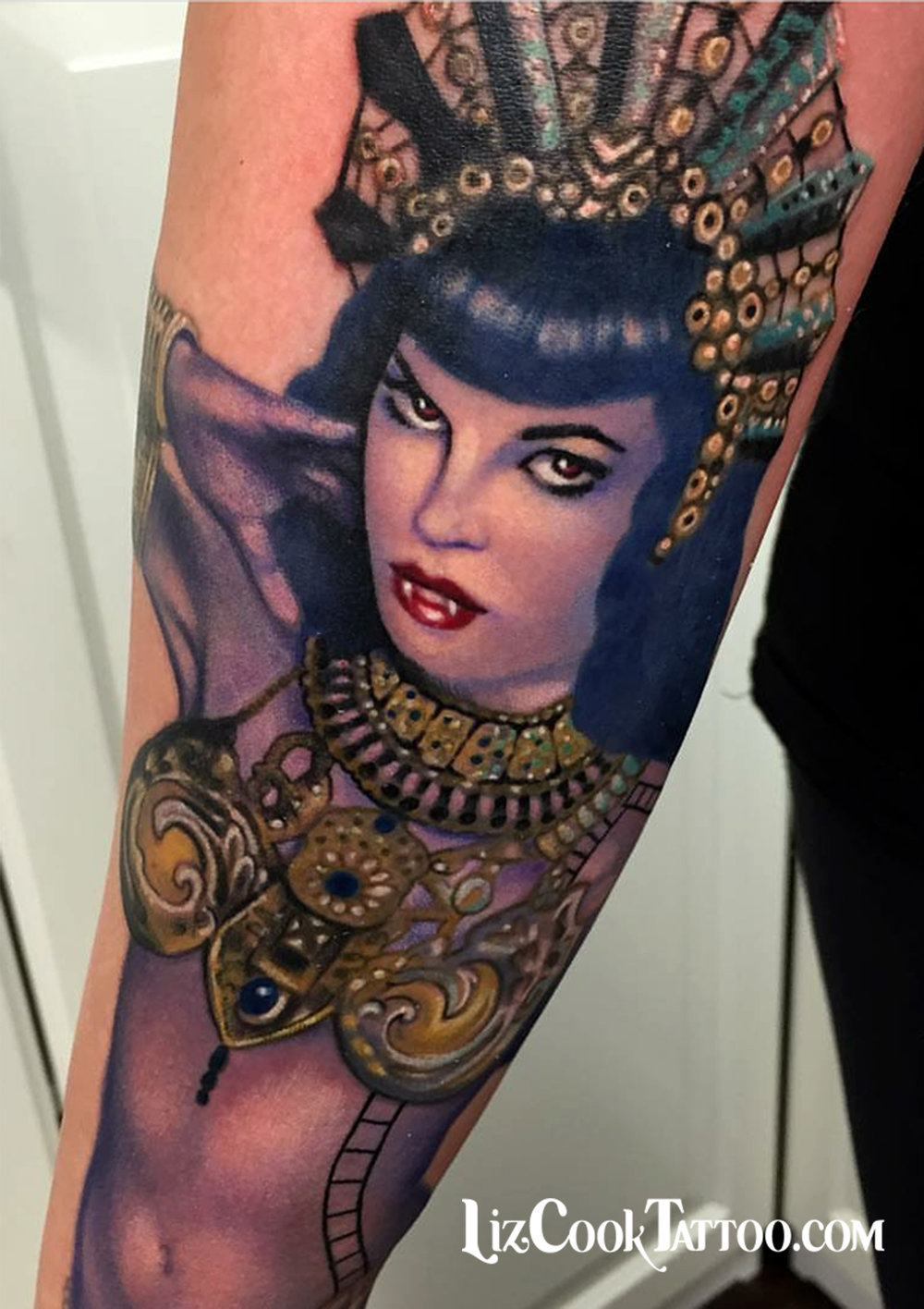 Liz Cook Tattoo Pinup Betty Page Olivia D Queen of the Damned Color Illustrative Realism.jpg