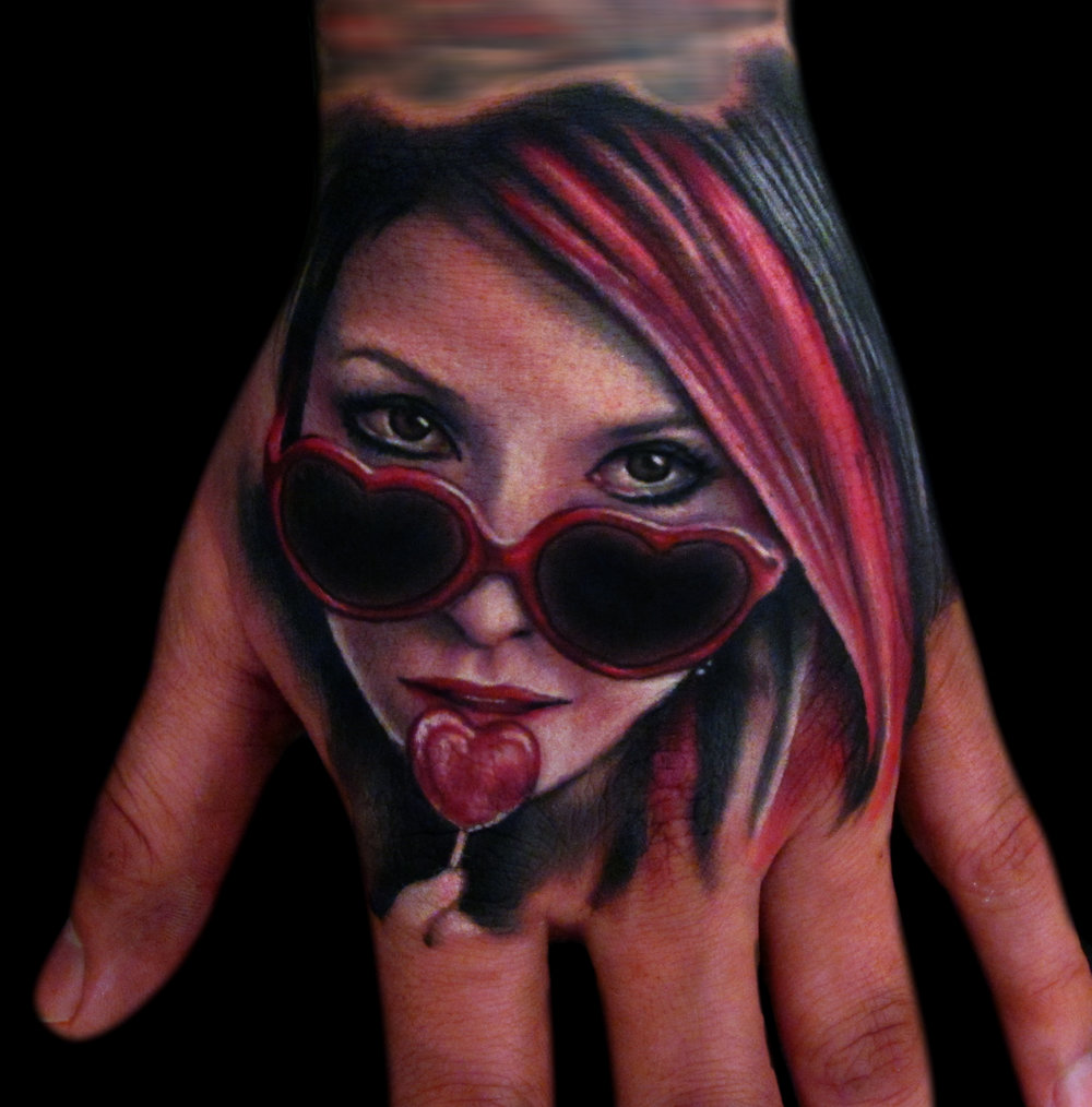 Tattoos Hand Portrait Realistic Color Heart Glasses Liz Cook Dallas Texas 300res.jpg