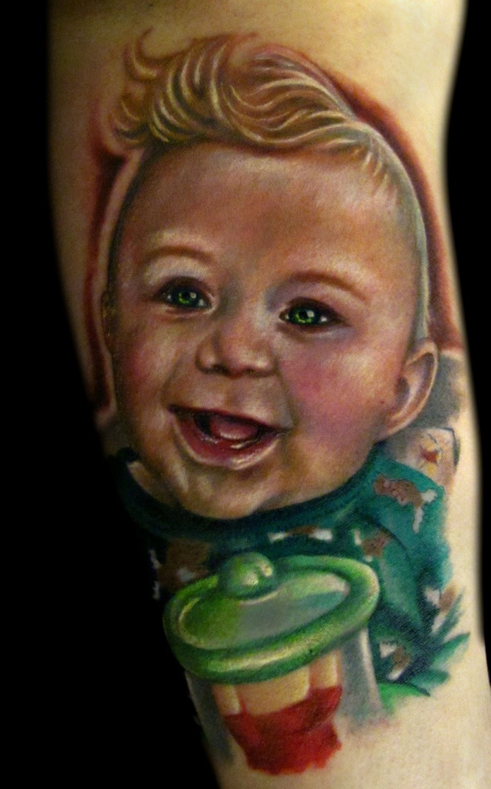 Tattoo Baby & Cup Realistic Portrait Color Liz Cook Dallas Texas 300res.jpg