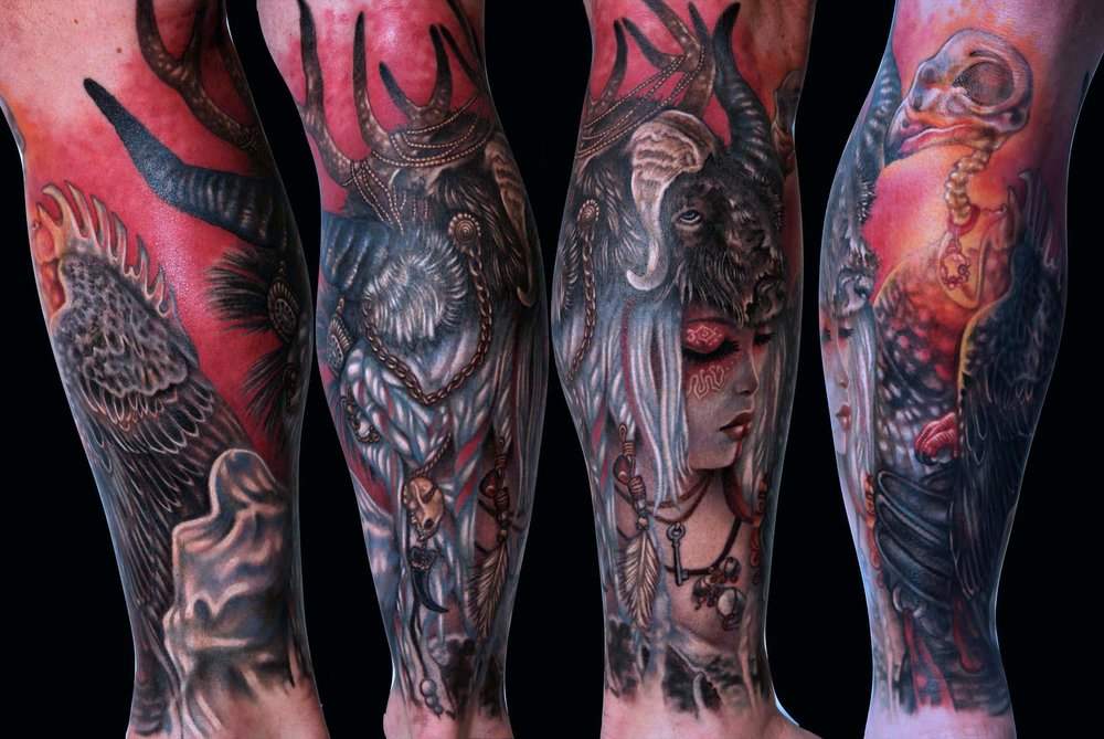 Liz Cook Tattoo Huntress & Falcon Sleeve.jpg