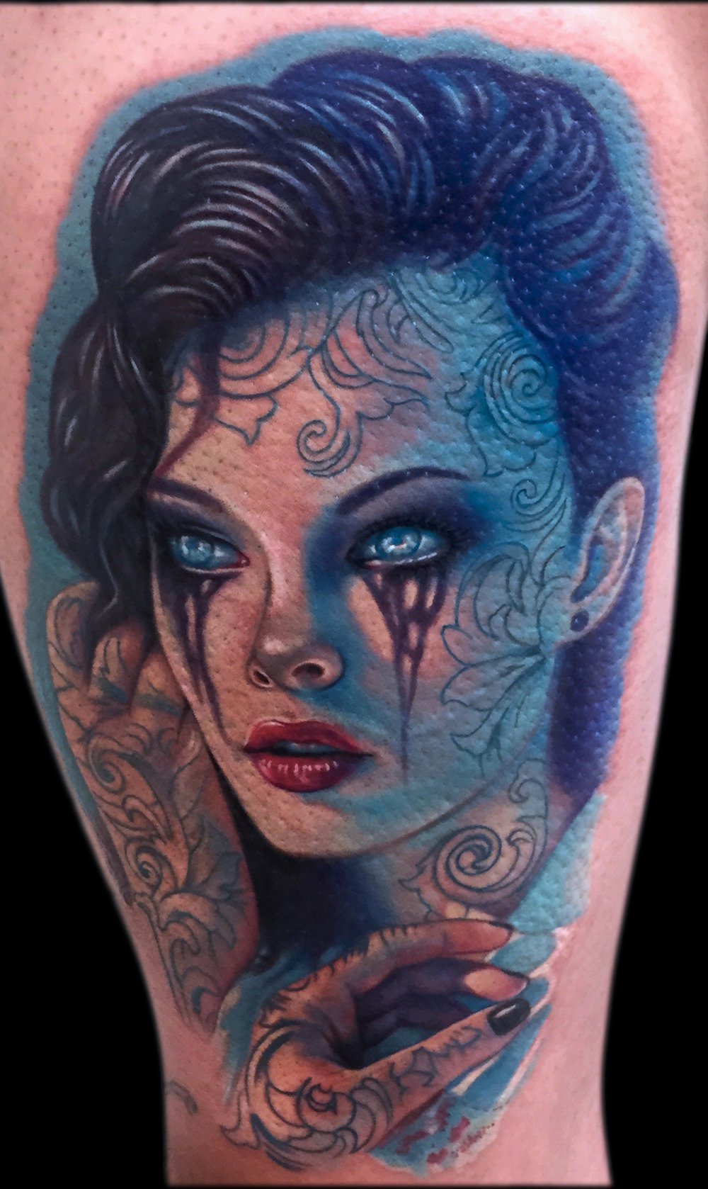 LCT Portrait Girl Blue Tattoos Face.jpg