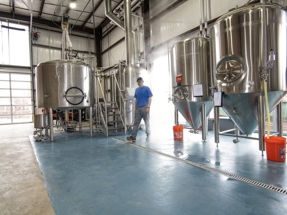 Elk Valley Brewing Tanks in Oklahoma City
