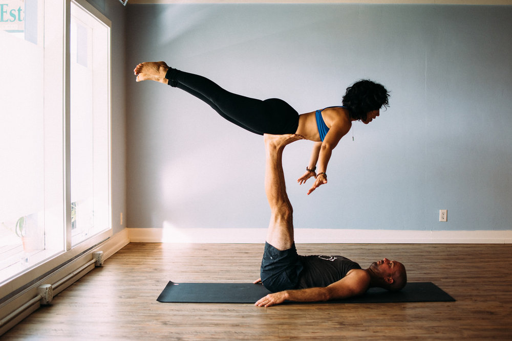 tandem yoga in studio