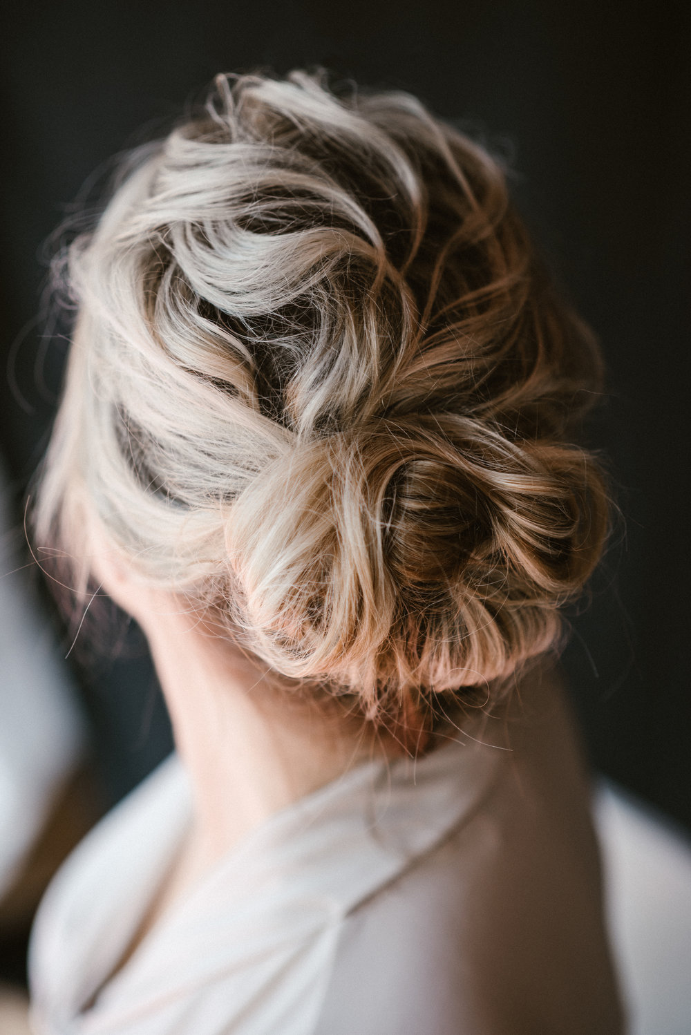 close up of perfect wedding hair