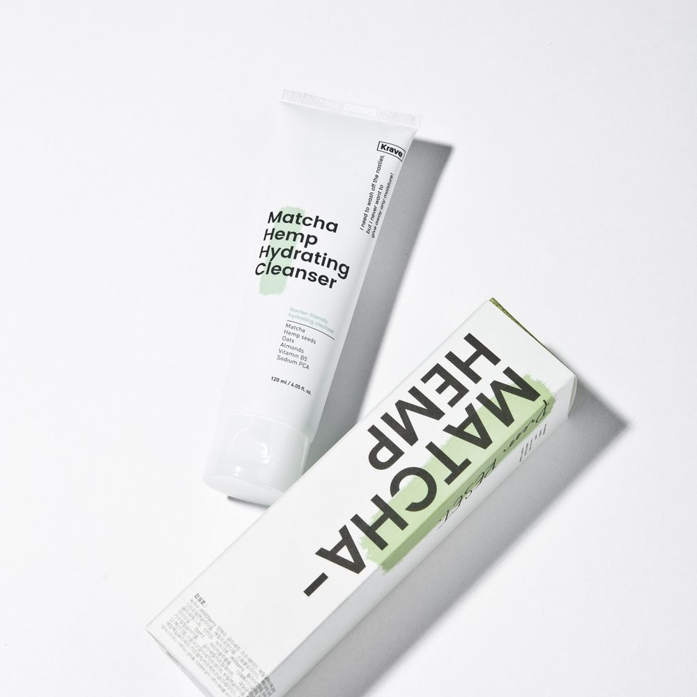 KRAVE BEAUTY: MATCHA HEMP HYDRATING CLEANSER, $16 | 120ml    Surfactants:   Coco-betaine  (amphoteric) ,  Quillaja Saponaria Bark Extract  (nonionic) ,Coco Glucoside  (nonionic) ,Decyl Glucoside  (nonionic) ,Sodium Cocoyl Isethionate  (anionic)    pH: 5.0-6.0 (pH may vary by batch)