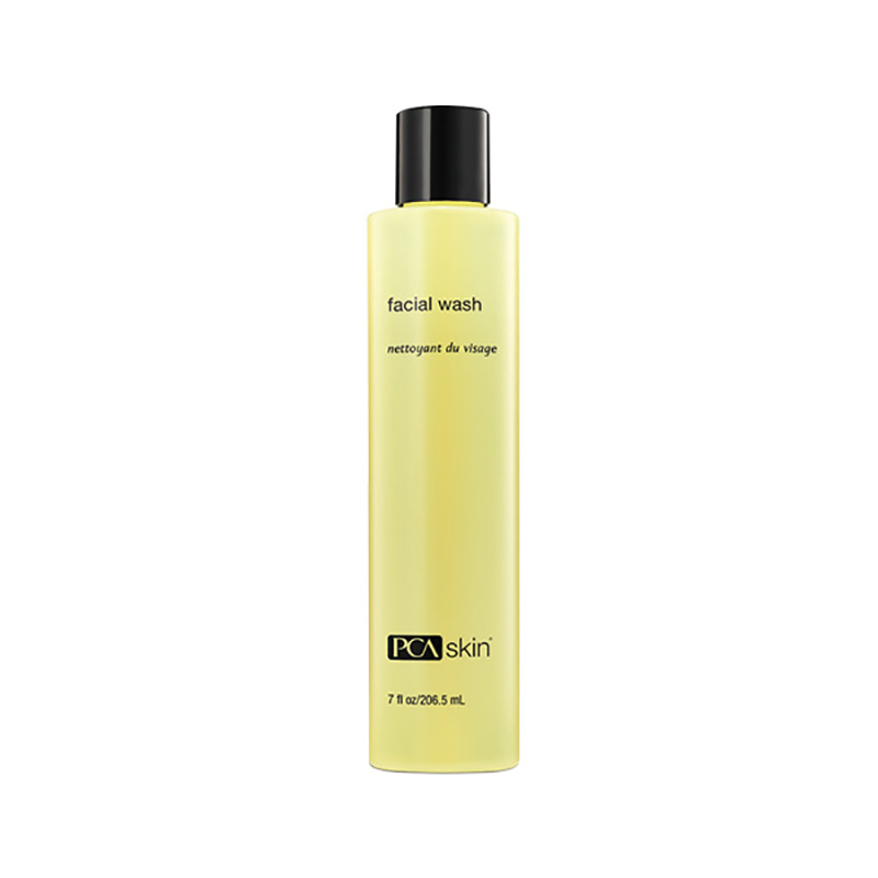 PCA SKIN: FACIAL WASH, $32 |206.5ml    Surfactants: Sodium C14-16 Olefin Sulfonat e (anionic), Cocamidopropyl Betain e (amphoteric),Cocamidopropyl hydroxysultaine (amphoteric)    pH:  N/A, but approximately  3.5-5.0 based on the ingredient list