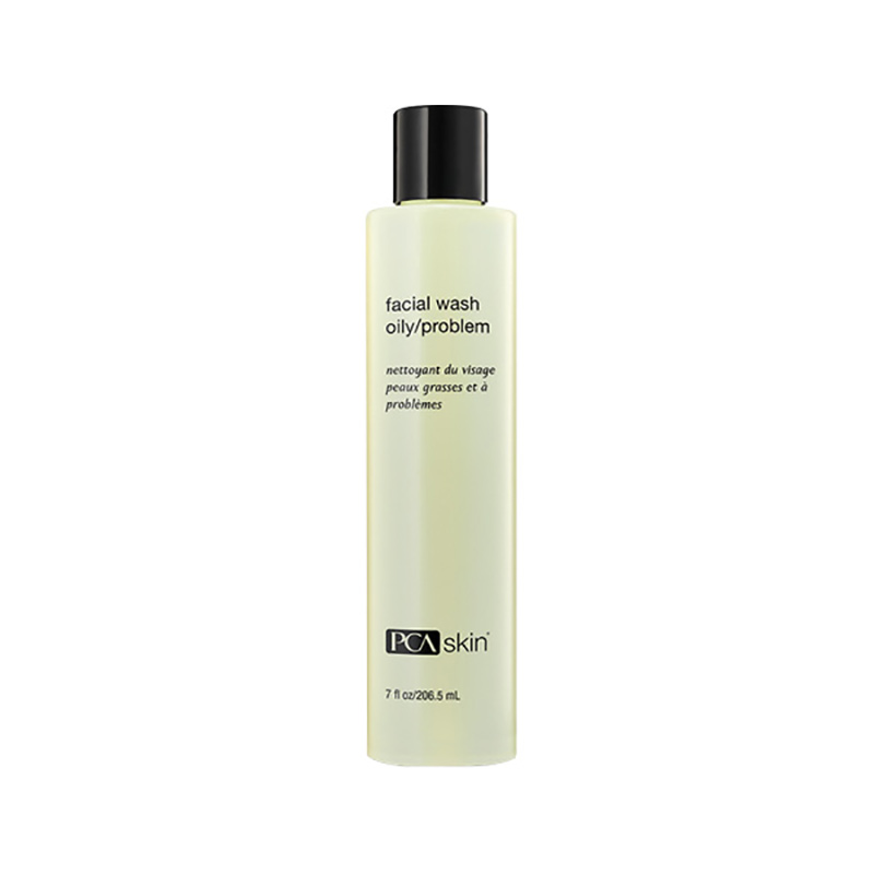 PCA SKIN: FACIAL WASH FOR OILY/PROBLEM SKIN, $32 | 206.5ml    Surfactants: Lauramidopropyl betaine (amphoteric), Sodium Laurylglucosides Hydroxypropyl Sulfonate  (nonionic), Sodium Lauroyl Sarcosinate  (anionic), PEG 150 Distearate  (nonionic)    pH:   N/A, but approximately  3.5-5.0 based on the ingredient list