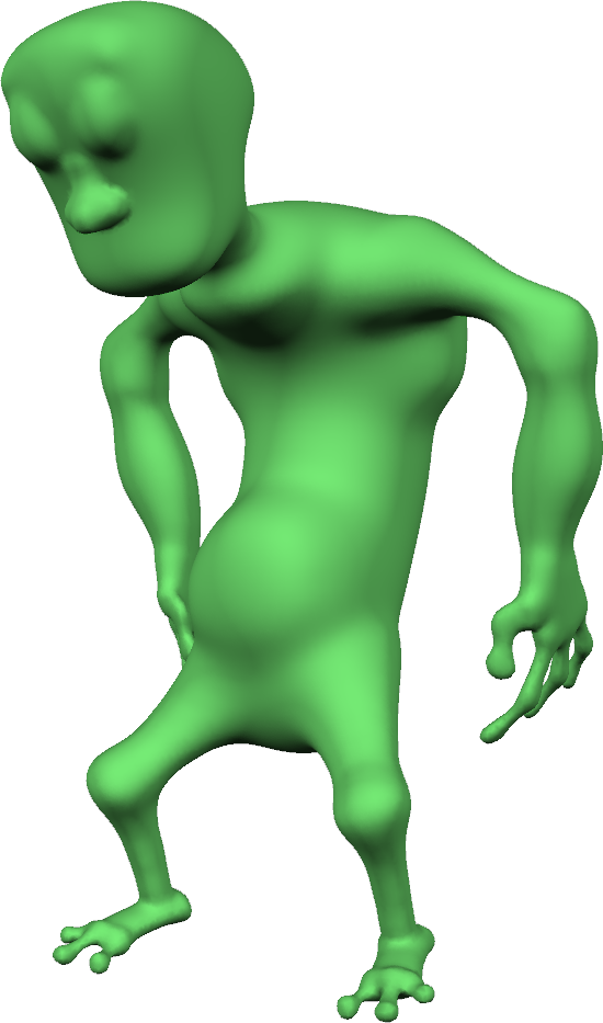 For a long time this Gremlin was the most complex thing I had modeled in ShapeShop (the hands and feet were tricky!)