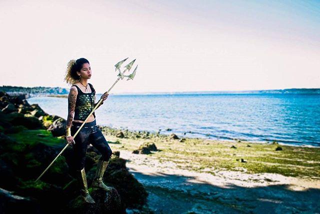 Coming soon to a beach near you: Aqwoman 🐚🌊 #Cosplay #Aquaman #Aqwoman