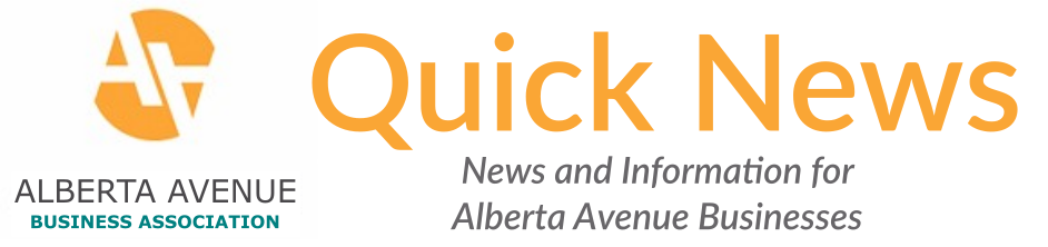 You can find our latest newsletter here: http://mailchi.mp/cb3c3f9cafa6/alberta-avenue-business-association-quick-news-august-2017 And our newsletter archive here: http://us11.campaign-archive2.com/home/?u=fac248323173f5fa4c6661098&id=1627affe87 You can sign up to receive our newsletter here: http://eepurl.com/cpdVbX