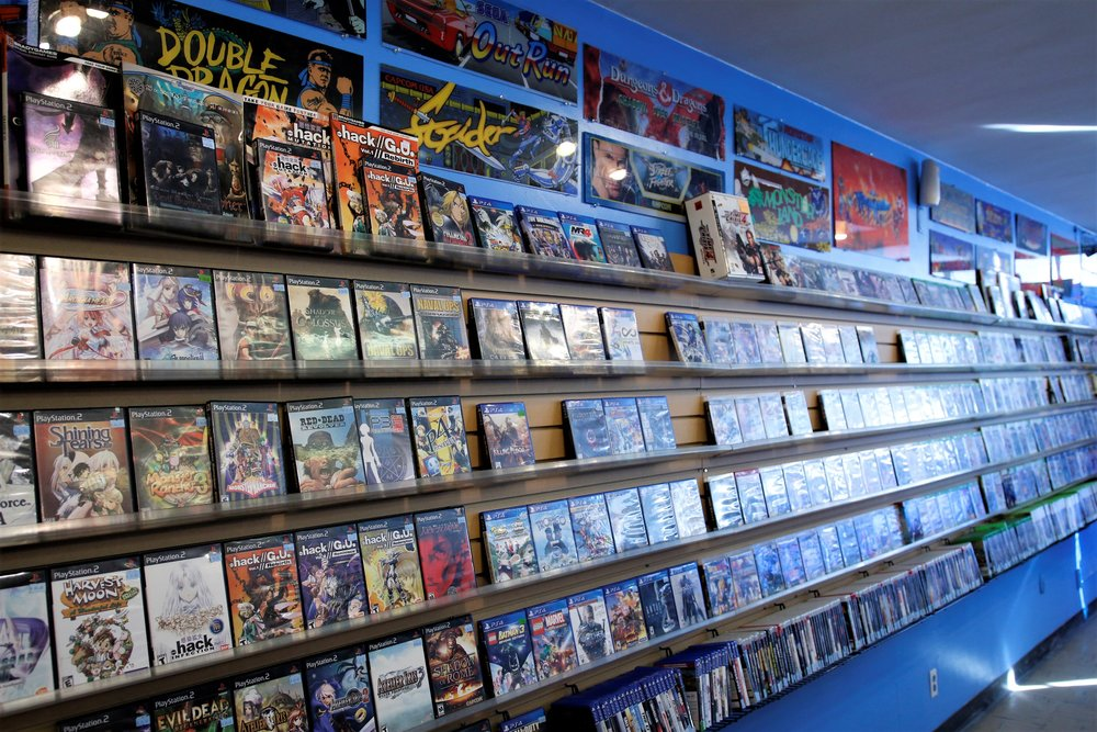 Strolling these aisles is a blast to the past. Nexwave specializes in retro and out of print games for all consoles. NES, SNES, Sega, Atari, Playstation...they have you covered from Pacman to Mario, and beyond!!