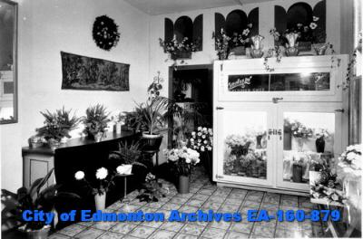 Inside Gladys Flower Shop 9349 - Alberta Avenue