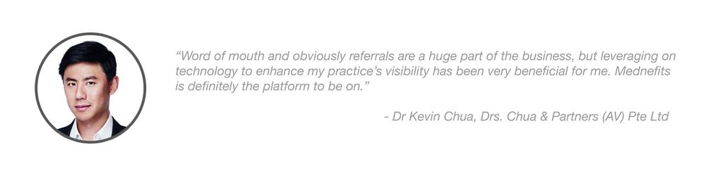 Mednefits Testimonial - Dr Kevin Chua