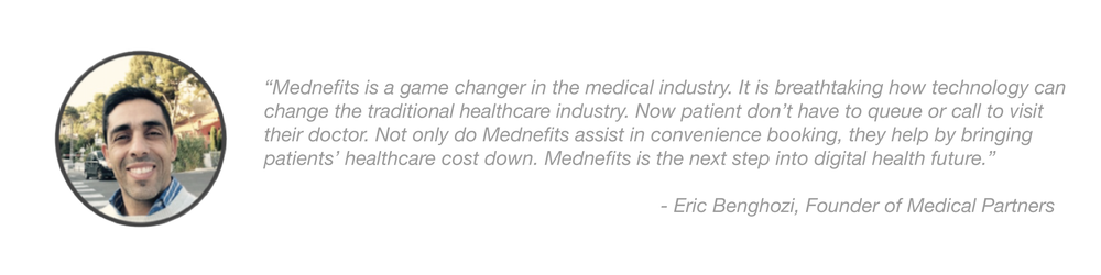 Mednefits Testimonial - Eric Benghozi