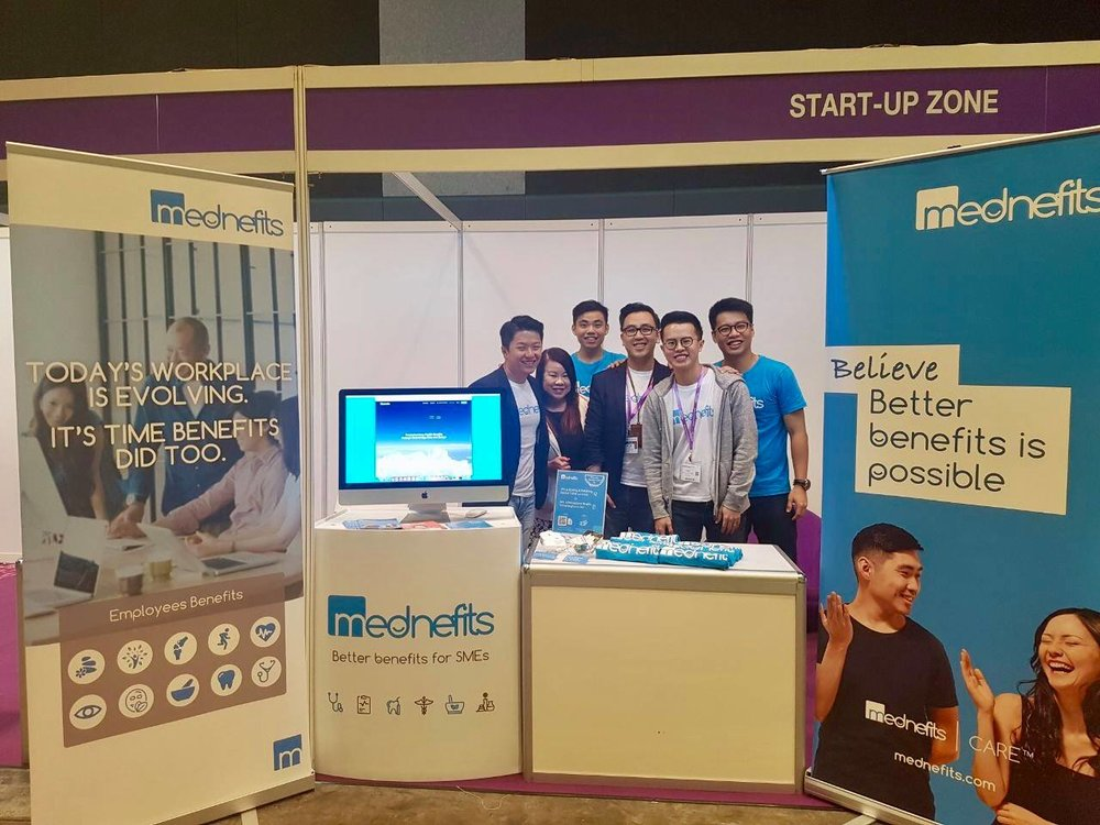 Mednefits Booth at HR Summit & Expo Asia 2017