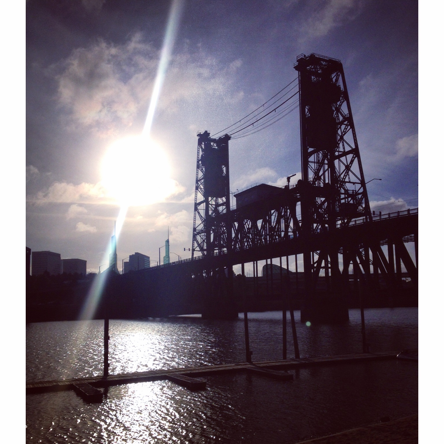 A view of the Steel from this morning's run.